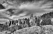 Needles Highway Prints - On The Needles Highway 5 BW Print by Mel Steinhauer