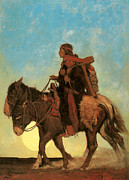 Nc Posters - On the October Trail A Navajo Family Poster by NC Wyeth