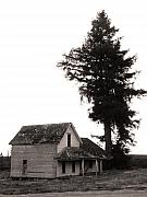 Haunted House Photos - On The Oregon Trail by Everett Bowers