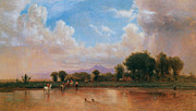On The Plains Prints - On the Plains Cache la Poudre River Print by Thomas Worthington Whittredge
