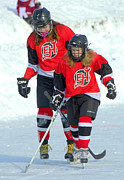 Pond Hockey Photos - On The Pond by Rob Andrus