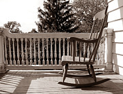 Historic Home Photo Metal Prints - On the Porch Metal Print by Olivier Le Queinec