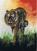 The Tiger Paintings - On the Prowl by Jerry Bates
