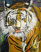 Hunger Painting Prints - On The Prowl Print by Randolph Gatling