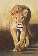 Action Pastels - On The Prowl by Slaine Walkerman