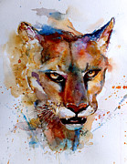 Abstract Wildlife Paintings - On the prowl by Steven Ponsford