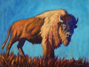 Bison Art - On the Range by Theresa Paden