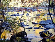 Blackstone River Prints - On the River Softly Print by Ted Rickson