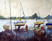 Lorient Prints - On the riverbank Print by Andre MEHU