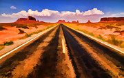 Usa Prints Digital Art Prints - On the Road Print by Jeff R Clow