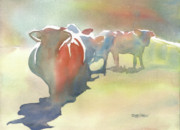 Wet Into Wet Watercolor Prints - On the Road Print by Kris Parins