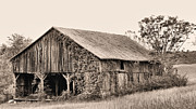 White Barns Prints - On the Road To Flint Hills Print by JC Findley