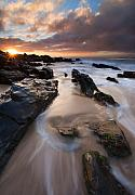 Dawn Prints - On the Rocks Print by Mike  Dawson