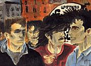 U2 Painting Metal Prints - On the Street Metal Print by Alan Hogan
