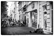 Homeless Man Prints - On the Streets of Marseille Print by John Rizzuto