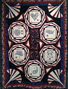 Quilt Tapestries - Textiles Originals - On The Table by Tracie L Hawkins