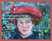 Cezanne Drawings Prints - On the Terrace renoir rendition Print by Eric  Schiabor