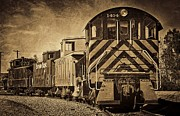 Old Caboose Framed Prints - On The Tracks... Take Two. Framed Print by Peggy J Hughes