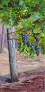 California Vineyard Paintings - On the Vine by Inka Zamoyska