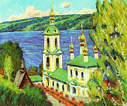 Shores Pastels - On the Volga. Plios by Aleksey Zuev