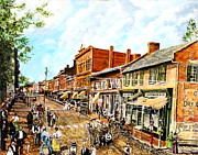 Robert E Lee Paintings - On the Way from Appomattox to Dunning School by Thomas Akers