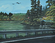 Spokane Painting Framed Prints - On the way home Framed Print by Ana Lusi