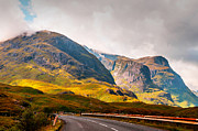 Highlands Of Scotland Prints - On the Way to Glencoe. Scotland Print by Jenny Rainbow