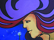 Peter Max Painting Originals - On The Wind by Jim Bowers