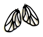 Large Earrings Jewelry - On The Wings Of Love - Butterfly Wings Earrings by Rony Bank