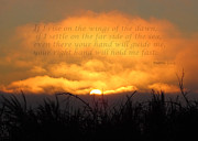 Scriptures Prints - On the Wings of the Dawn Print by Angie Vogel