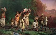 Underground Railroad Paintings - On to Liberty by Theodor Kaufmann