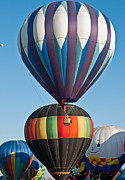 Hot Air Balloon Race Framed Prints - On top Framed Print by Jim Chamberlain