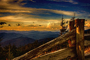 Smokey Mountains Digital Art - On Top of Mount Mitchell by John Haldane