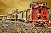 Old Caboose Framed Prints - On Track - Take Two Framed Print by Peggy J Hughes