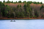 Walden Pond Framed Prints - On Walden Pond Framed Print by Jayne Carney
