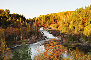 Sudbury River Framed Prints - Onaping Falls Framed Print by Tanya Harrison
