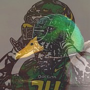 Sports Art Drawings Posters - Once A Duck Always A Duck Poster by Jeremiah Colley