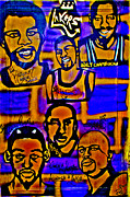 Magic Johnson Paintings - Once A Laker... by Tony B Conscious