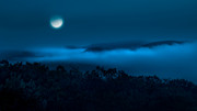 Blue Moon Photos - Once in a blue moon by Bill  Wakeley