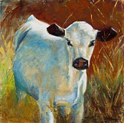 Calves Prints - Once In A Blue Moon Print by Frances Marino