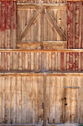 Barn Door Framed Prints - Once Red Doors Framed Print by Margie Hurwich