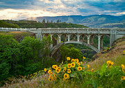 Arched Bridge Posters - Once Upon a Time Poster by Idaho Scenic Images Linda Lantzy