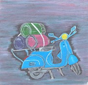 Scooter Paintings - Once upon a time in India.. by Surbhi Grover