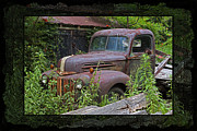 Abandoned Cars Prints - Once Upon A Time - Rusty Ford Pickup Truck Print by John Stephens