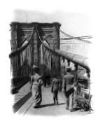 Brooklyn Bridge Drawings - Once upon a time by Stefan Kuhn