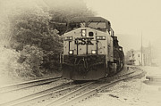 Train Depot Photos - Oncoming Train by Thomas R Fletcher