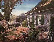 Ridgewood Painting Framed Prints - Onderdonk House Framed Print by Victor SOTO