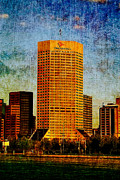 Indianapolis Digital Art - One America Building Remix by David Haskett