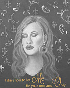 Adele Painting Posters - One and Only Poster by The Art With A Heart By Charlotte Phillips