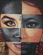 Racism Paintings - One And The Same by Malinda  Prudhomme